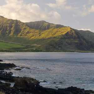 Sunrise over the Makaha Mountains