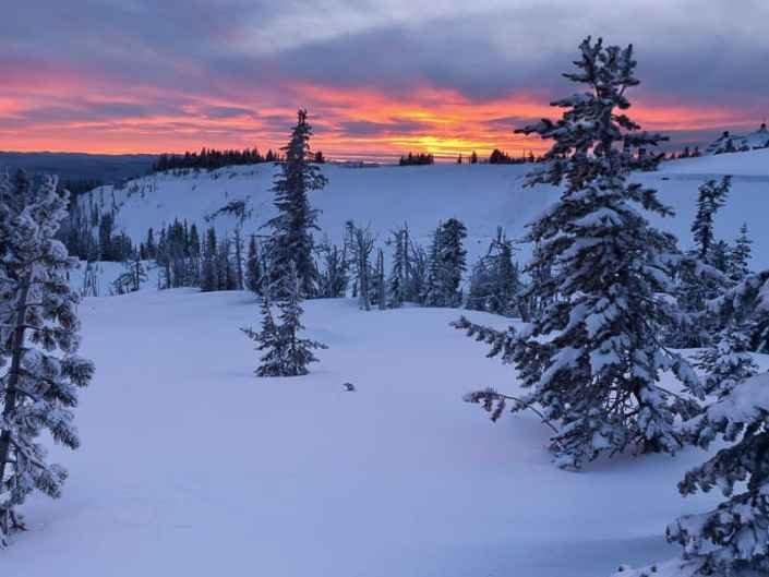 The Sun Sets on Timberline Lodge