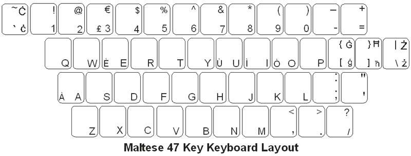 Maltese Keyboard Labels DSI Computer Keyboards