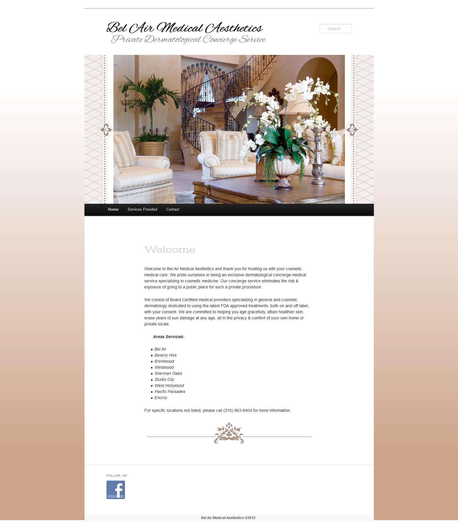 Bel Air Medical Aesthetics Web Design and Implementation