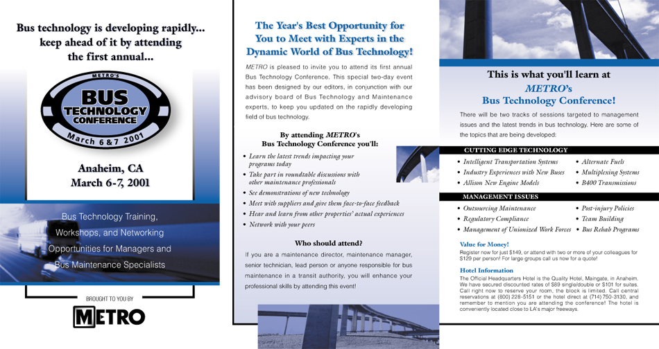 Bus Technology Conference Brochure