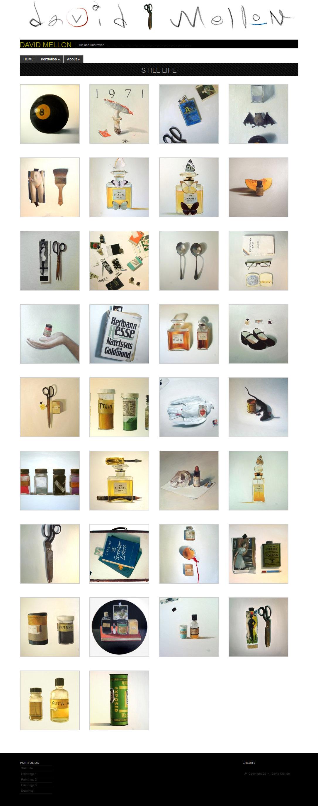 David Mellon Artist Portfolio Web Design and Implementation