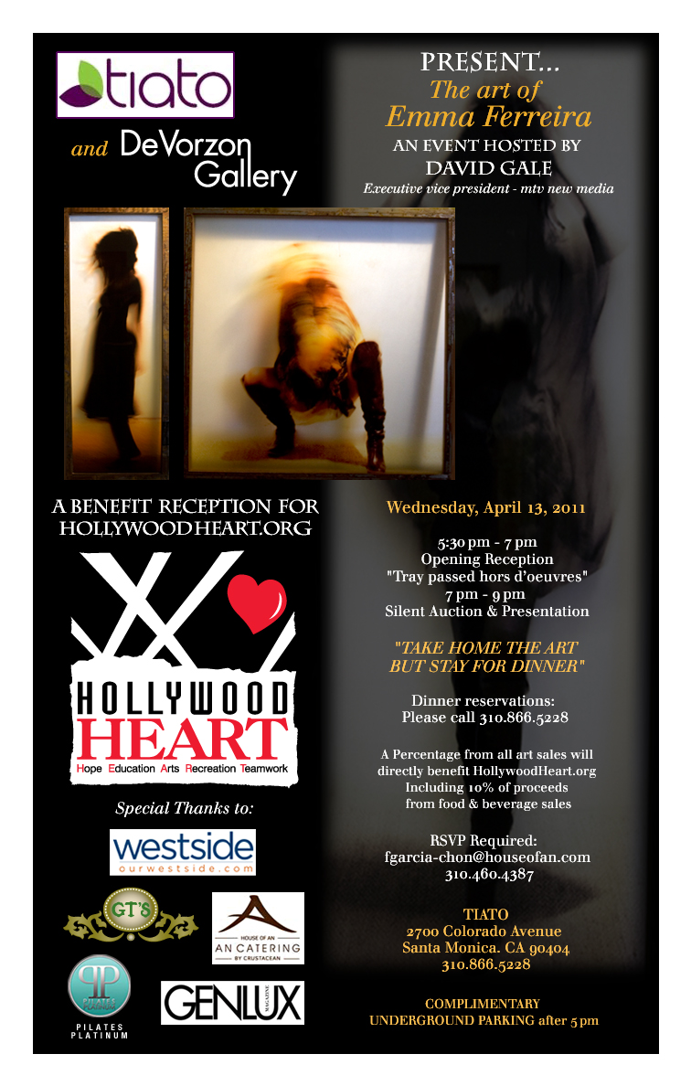 Hollywood Heart Benefit Email