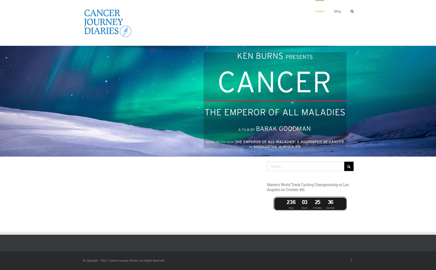 Homepage Cancer Journey Diaries
