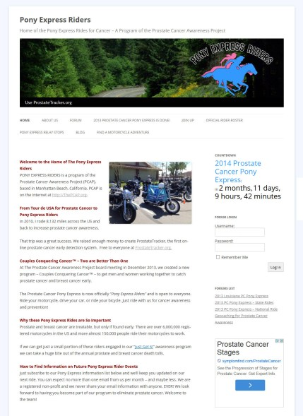 Pony Express Riders Forum Web Design and Implementation