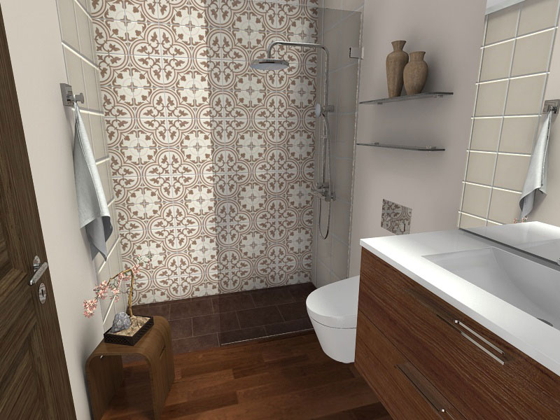 Awesome Small Bathroom Ideas Wood Floor Curbless Shower Ds Kitchen Best Image Libraries Weasiibadanjobscom