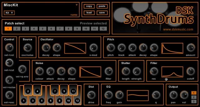 Free VST download DSK SynthDrums : DSK Music