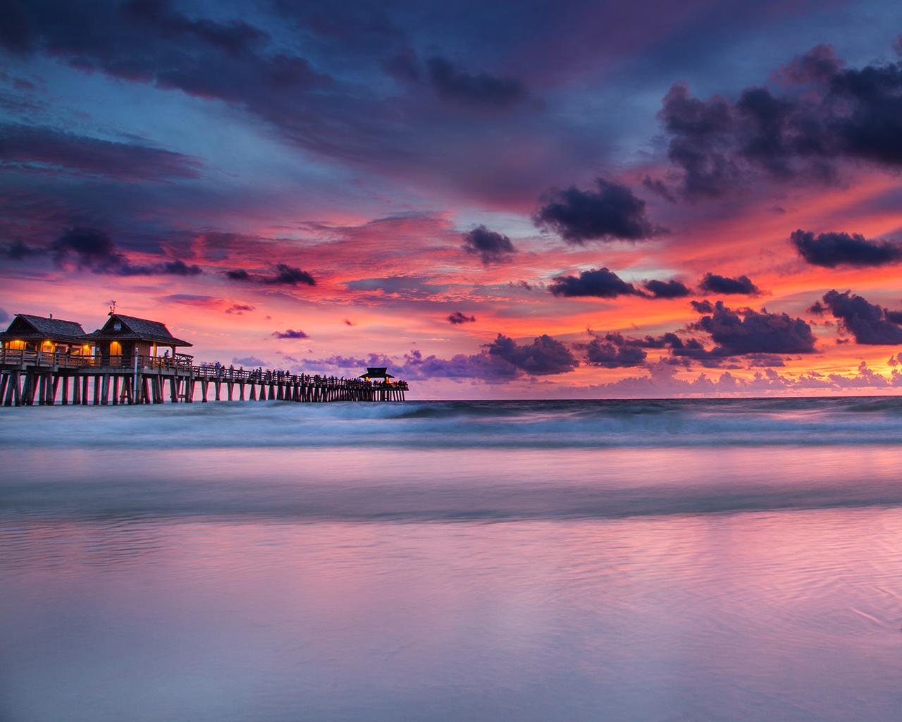 Florida Sunset By Matt Aceino Dsktps