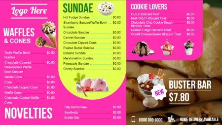 Ice Cream Signage Menuboard Design From DSMenu
