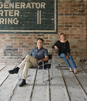 """Bob and Maria Filippone are backing Noce; here, they sit in the building at 1326 Walnut St. that they're renovating to house the jazz club. """"If we wanted to do it right, we had to gut the building and start from scratch,"""" Bob Filippone says."""