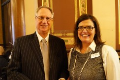 Representative Rob Bacon and Sherri Nielsen