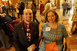 Representative Skyler Wheeler and Renae Beebout