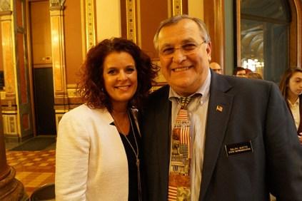 Rochelle Burnett and Rep. Ralph Watts