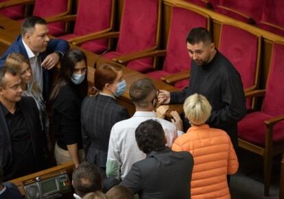 """Давид Арахамія і депутати фракції """"Слуга народу"""""""