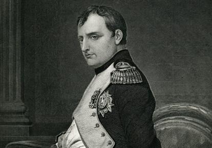 Гравюра 1873 р. з зображенням Наполеона Бонапарта