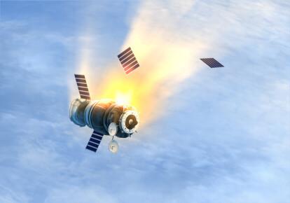 У квітні місяці Росія втратила два супутники, які зійшли з орбіти і згоріли