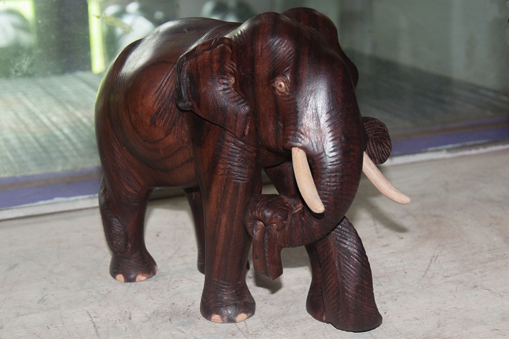 D Source Products Elephant Wood Carving Thrissur