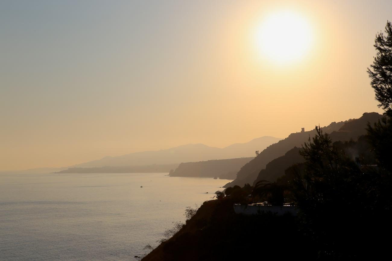 Coucher de Soleil sur Nerja