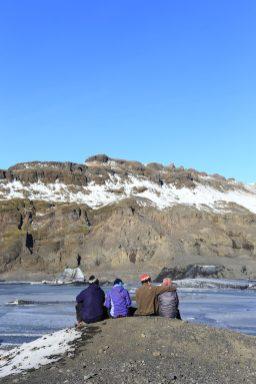 Groupe au glacier
