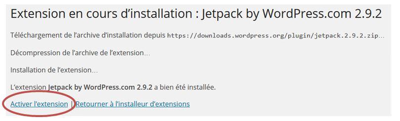 Activer Jetpack