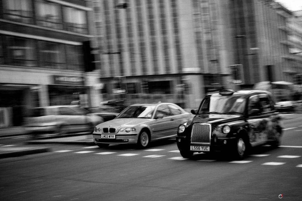 Filé d'un taxi londonien