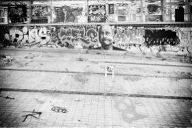 Jacques Chirac à la piscine de Marseille
