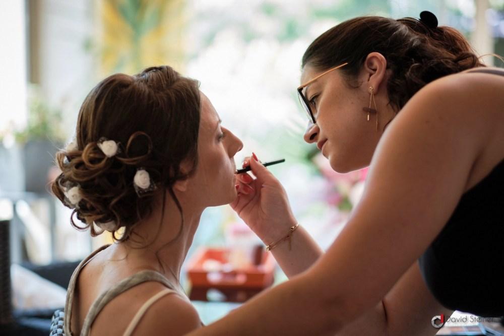 Maquillage de la mariée à Meyreuil