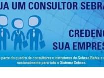 Sebrae lança edital: credenciamento de consultores