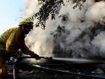 Incêndio atinge vegetação em assentamento do MST