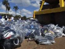 Receita destrói mercadorias contrabandeadas