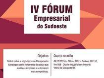 Convite para o IV Fórum Empresarial do Sudoeste