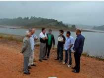 Comitiva da Câmara visita barragem Água Fria II