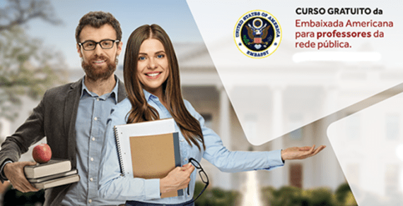 Curso promove aperfeiçoamentogratuito paraprofessores da Rede Pública