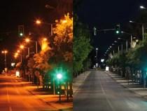 Avenida Integração recebe iluminação de LED