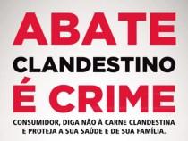 Campanha orienta sobre os perigos de se consumidor carne clandestina