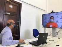 Citação e intimação de réu preso realizadas por meio de videochamada pelo PJBA