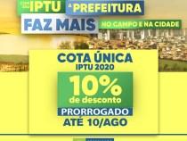 IPTU com desconto em cota única prorrogado em Vitória da Conquista: 10 de agosto