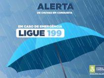 Defesa Civil de Vitória da Conquista alerta sobre previsão de mais chuvas