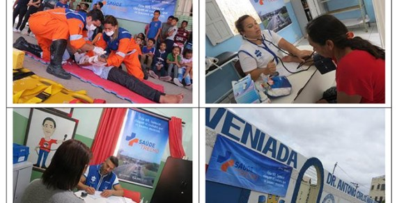 Projeto Saúde no Trecho em Planalto, Boa Nova e Poções dias 02, 03 e 04 de dezembro