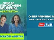 Senai Bahia oferece mais de 800 vagas gratuitas de aprendizagem industrial