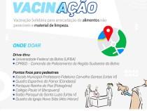 Comunidade apoia campanha solidária do CONSEG nos postos de vacinação