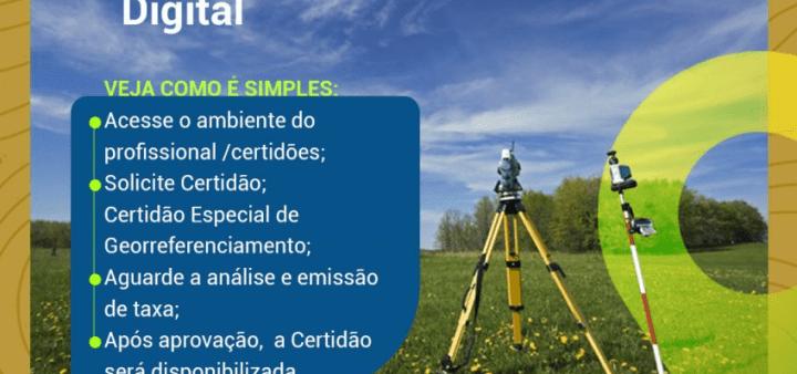 Crea-BA começa a emitir Certidão Especial de Georreferenciamento Digital