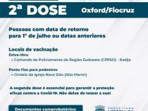 Vacinação em Conquista nesta quarta-feira será apenas da 2ª dose da AstraZeneca