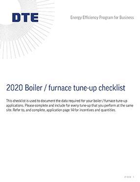 Boiler / Furnace Tune-up Checklist