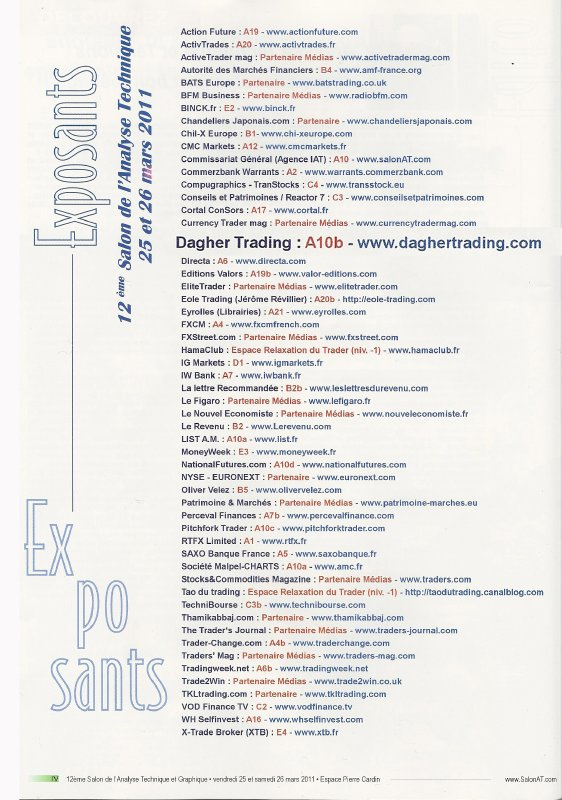 salon at_mars 2011_listing exposants
