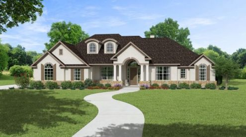 2 984 Sq Ft House Plan   4 Bed 3 Bath  1 Story   The Courtland     The Courtland