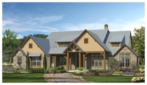 3 220 Sq Ft House Plan   4 Bed 4 5 Bath  1 Story   The Cross Creek     The Cross Creek