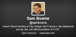 Sam Bowne, Ethical Hacker, instructor, Security, Researcher