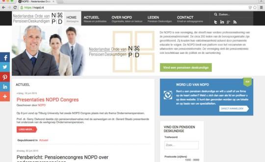 Social Professioneel web platform