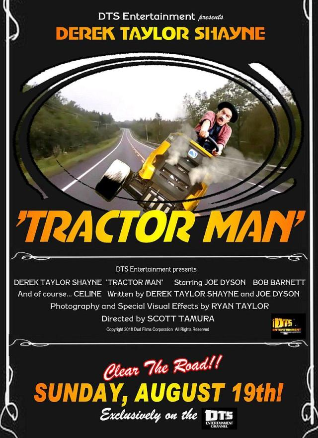 "Poster for the DTS Entertainment Comedy Film, ""Tractor Man"""